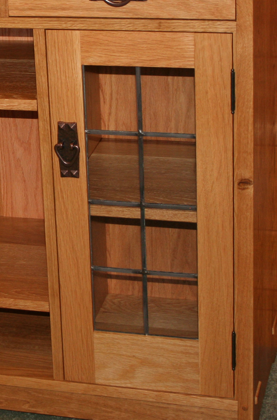 Heritage Lead glass Cabinet  /& Kitchen  door inserts