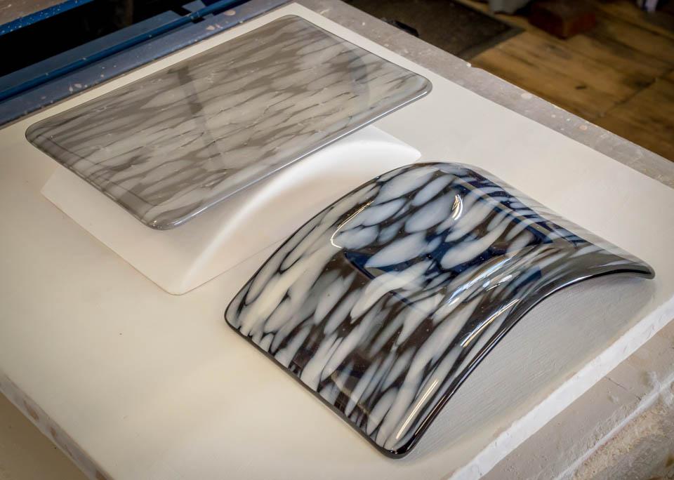 Fused Glass Art: Fused Blank and Slumped Candle Bridge